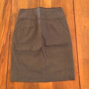 Banana Republic Stretch Cotton Blend Skirt